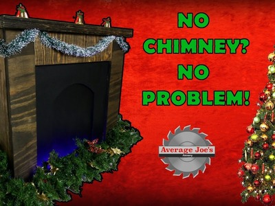 How To Make A Fold Away Christmas Fireplace Decoration