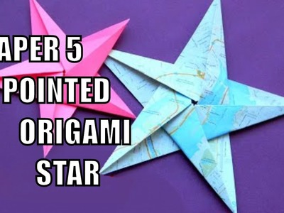 How to make a paper 5 pointed origami star ✅ - Easy Origami