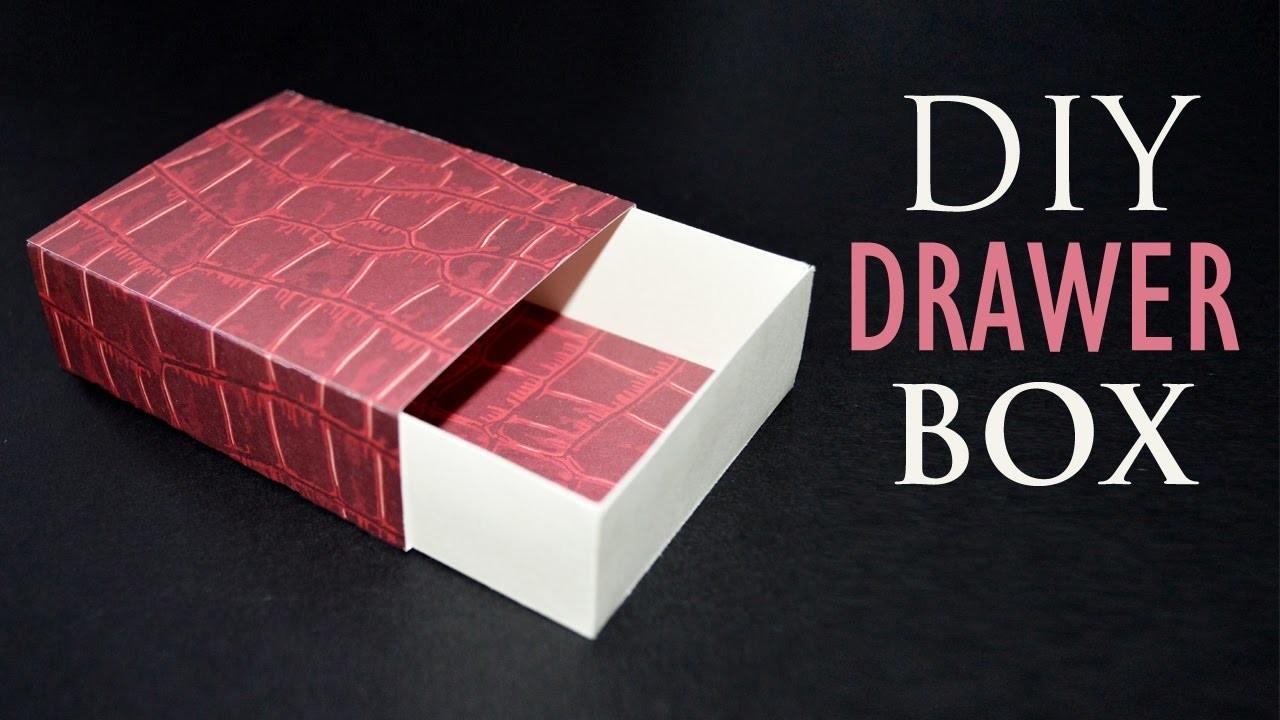 How to Make a Paper Box - DIY Sliding Gift Box