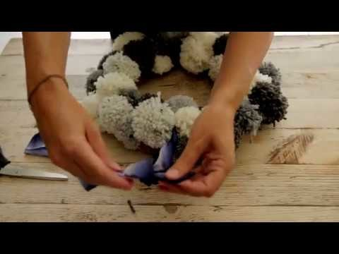 How to make a pom pom wreath | John Lewis