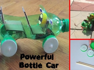 How to Make a Powerful Bottle Car || Electrical Engineering Projects