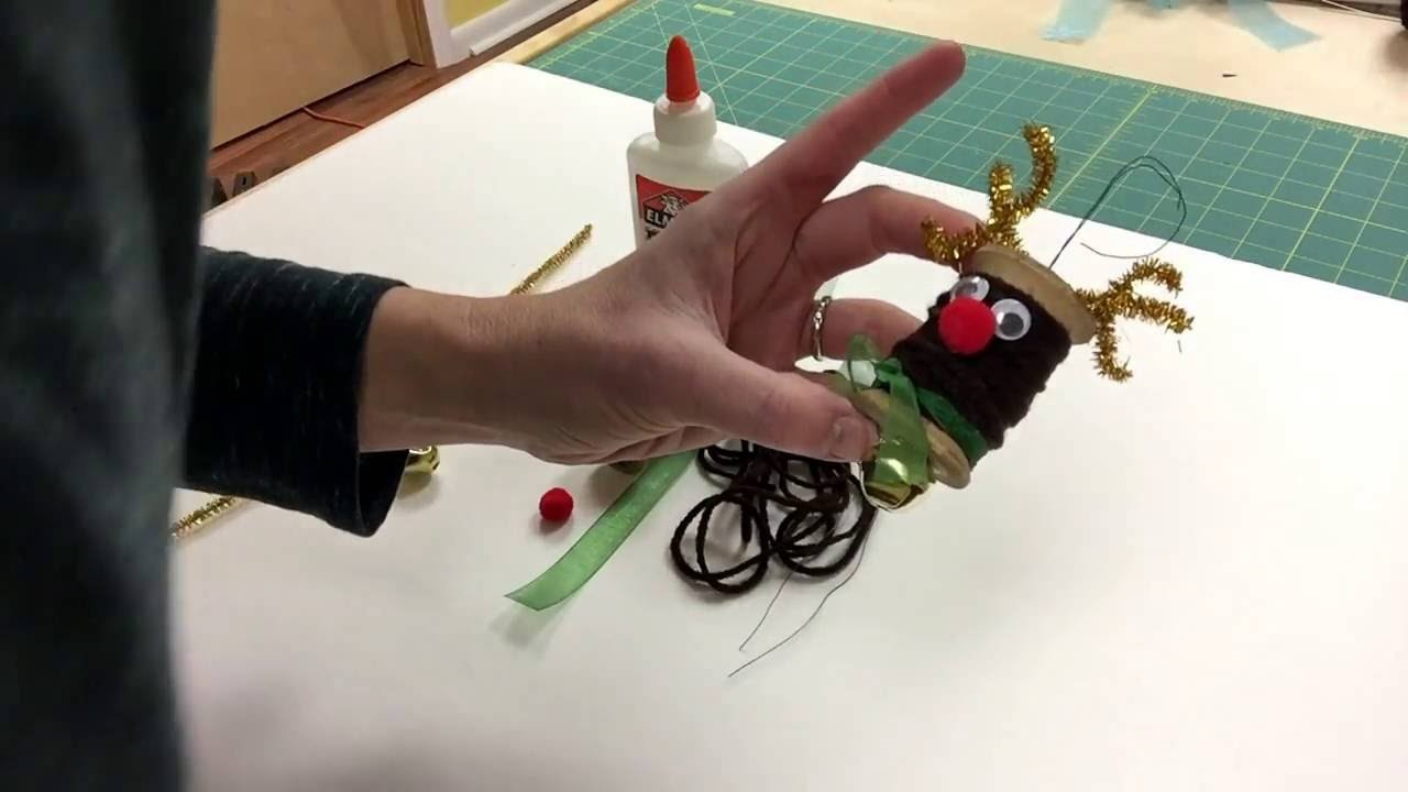 How to make a Rudolph ornament.