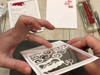 How to make a Santa Shaker Card