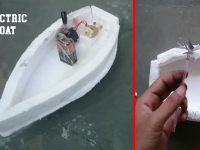 How to Make a Simple Electric Boat || Electrical Engineering Projects