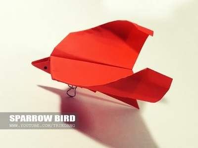 how to make origami bird that flies