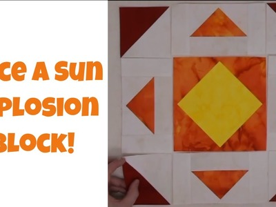How to Make a Sunshine Quilt Block - Beginner Quilting Tutorial with Leah Day