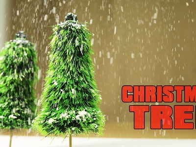 How To Make A Very Simple Christmas Tree With Fallen Snow On It