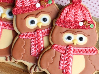 How to make a winter owl cookie