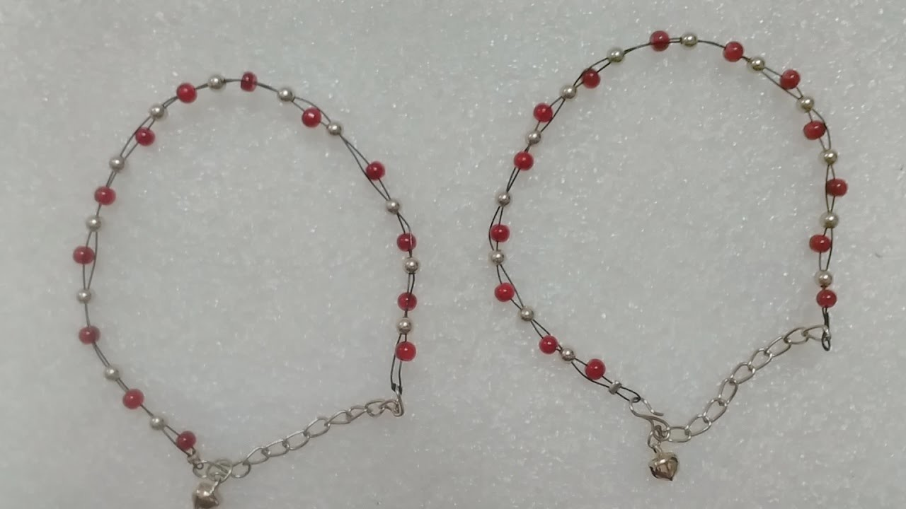 How to make anklet at home easy&simple