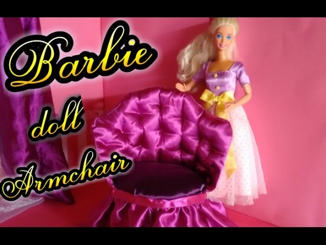 How to make armchair for dolls Barbie, Monster High and Ever After High