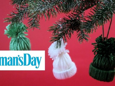 How to Make Knit Hat Ornaments | Woman's Day