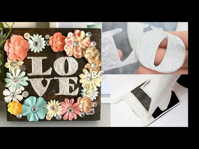 How to make letters from Paint | Acrylic paint