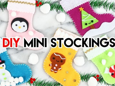 How to Make Mini Holiday Stockings!