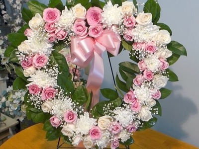 How to make open heart sympathy arrangement