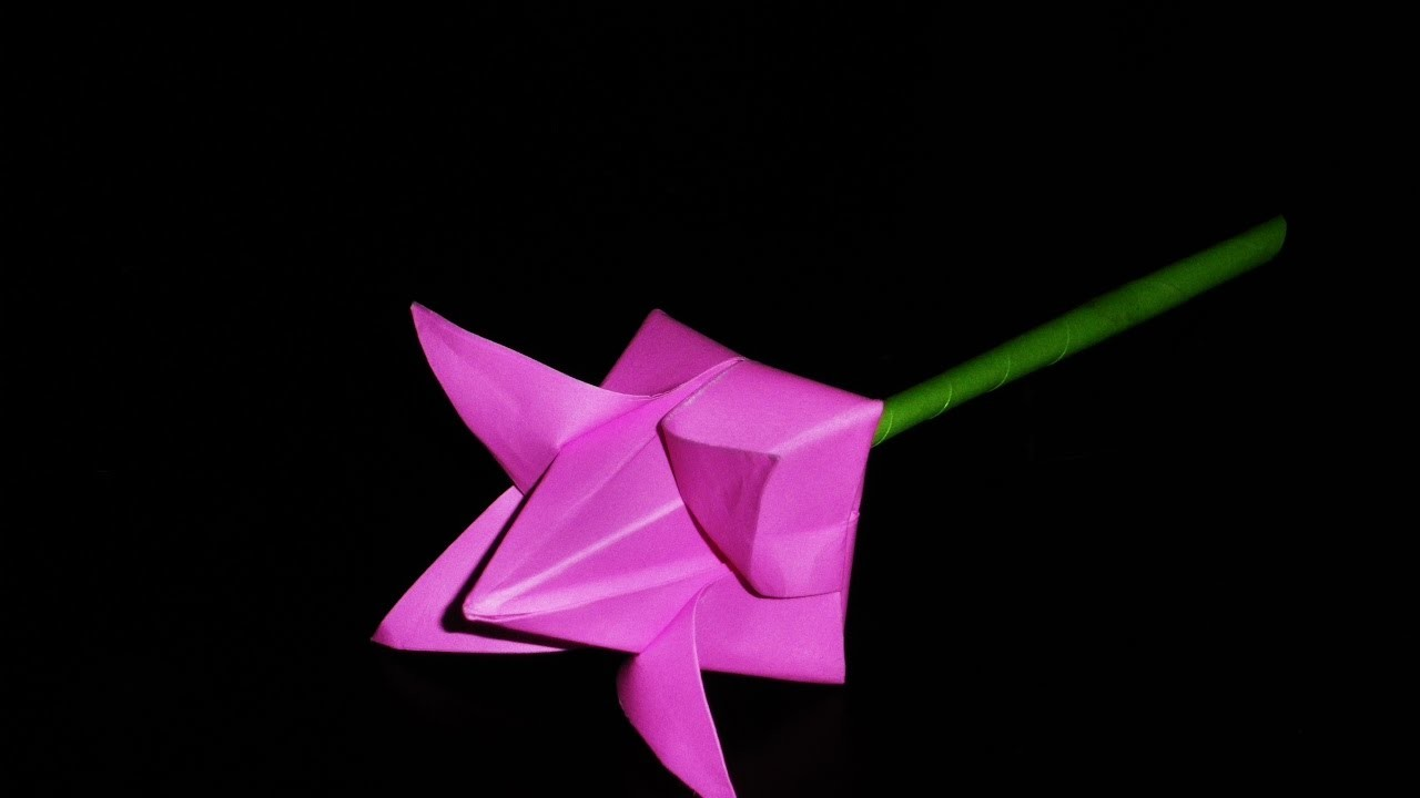 How To Make Paper Flower Origami Lotus Flower