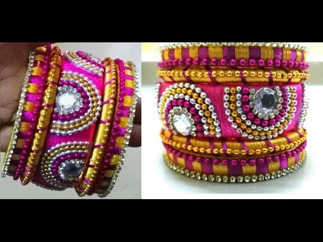 How to make party wear silk thread bangles