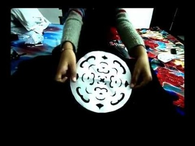 HOW TO MAKE RANGOLI STENCIL