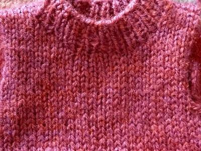 How to make Round Neck in Hindi Knitting (गोल गला बुनाई में  कैसे बनाये)