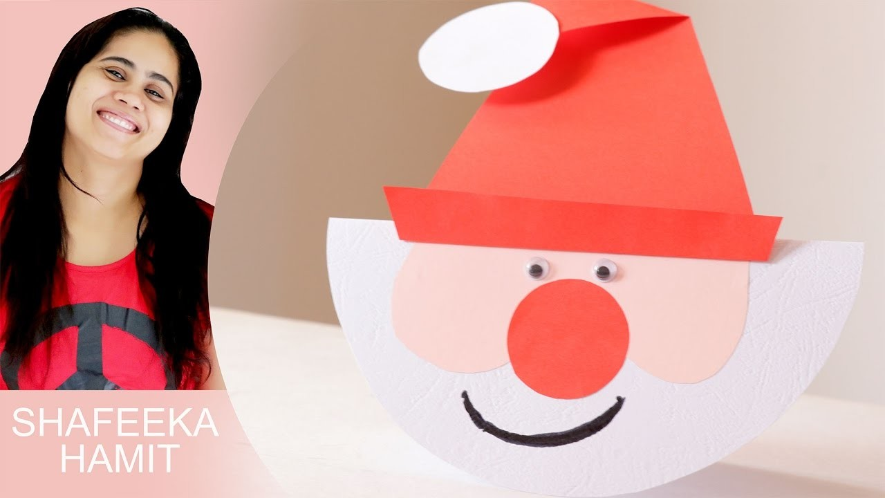 How to make Santa Paper Plate