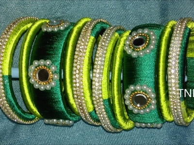 How to make silk thread bangles at home, latest silk thread bangles designs,silk thread bangles sets