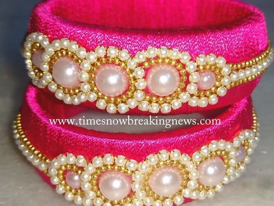How to make silk thread bangles at home | silk thread bangles, latest silk thread bangles,diy