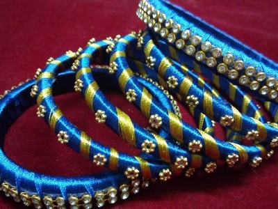 How to make Silk Thread Bangles set Complete Step by Step Tutorial