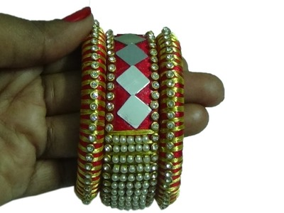 How to make silk thread bangles | DIY silk thread bangles