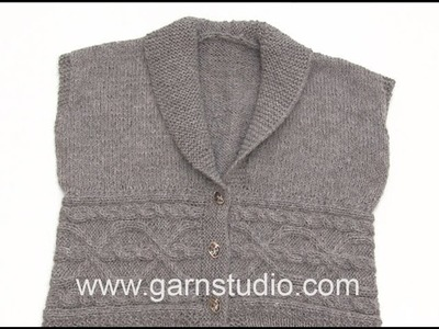 How to pick up stiches on vest in DROPS 173-39