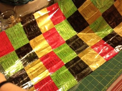 How to recycle Tea Bag Wrappers into a Table Runner