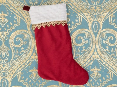 How to Sew a Christmas Stocking - Pattern and Assembly