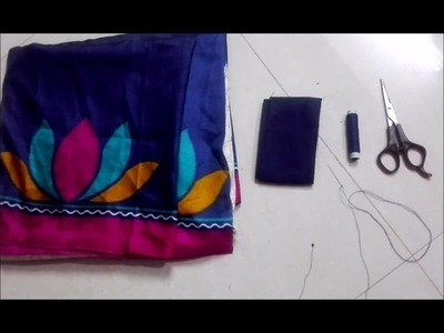 HOW TO STITCH SAREE FALL EASILY  || DIY SAREE FALL STITCHING || MANA ILLU