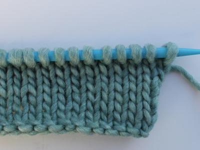 Left handed knitting for beginners | تعليم الحياكه للمبتدئين