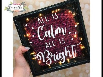 Lighted Crochet Shadow Box Holiday Tutorial   Sewrella