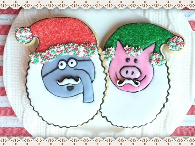 Mo Willems Piggie & Gerald Christmas Cookies - how to make elephant & biggie dessert