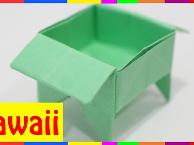 Origami Tray - How To Fold Tray ( Origami Hawaii )