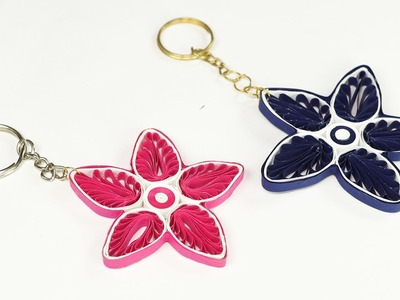 Paper Quilling - How to Make Keychains From Quilling Art, Simple and Easy Craft