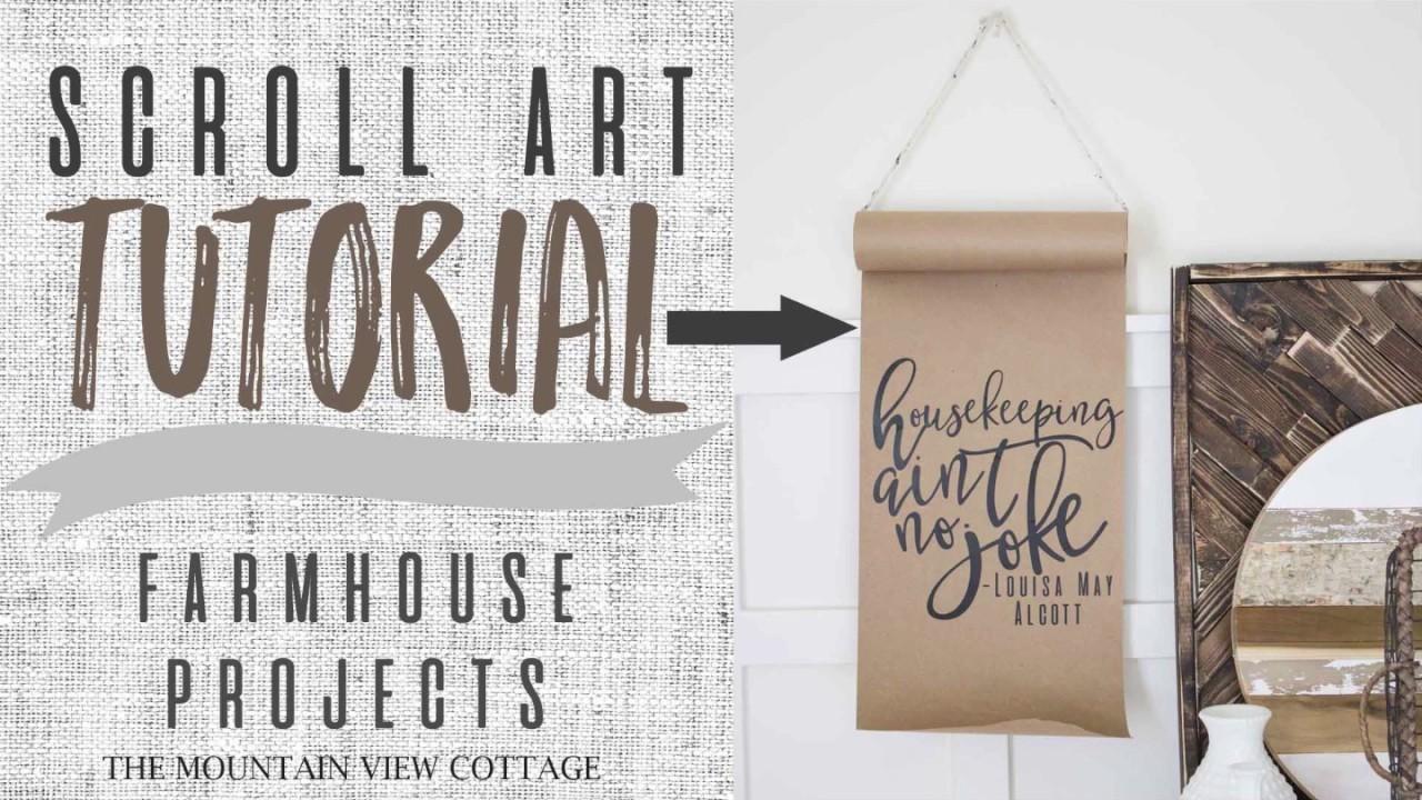 Scroll Art Tutorial-Farmhouse Inspired DIY