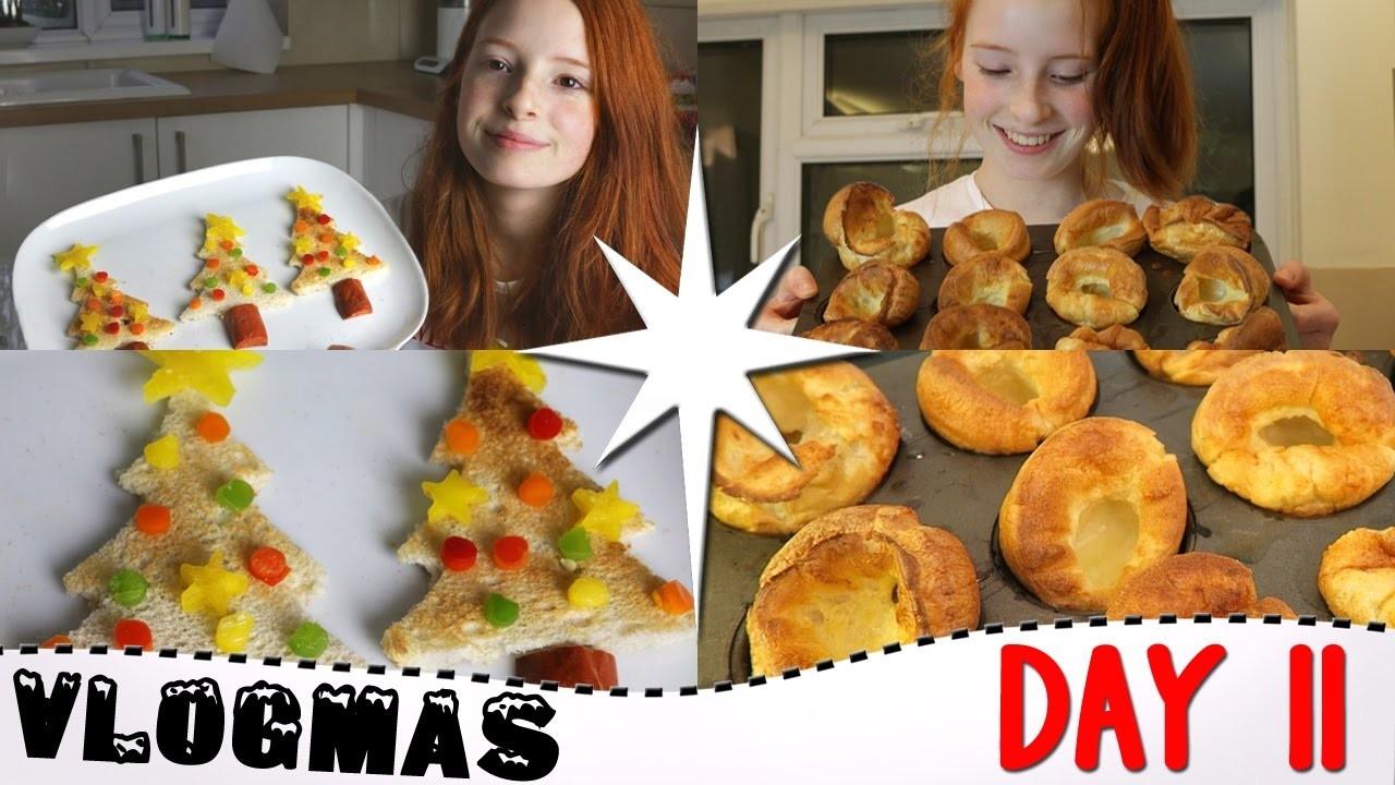 Vlogmas Day 11 2016, How To Make Massive Yorkshire Puddings, Christmas Tree Toast, Vlogmas   NiliPOD