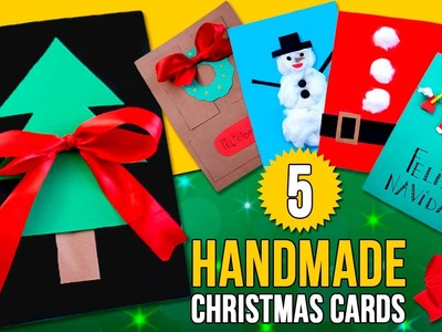 5 DIY CHRISTMAS CARDS for kids