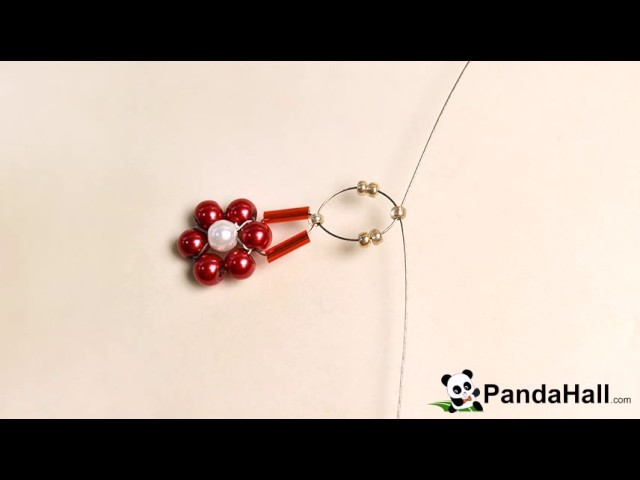 95 PandaHall Tutorial on How to Make Simple Beaded Flower Rings with Seed Beads and Pearl Bead