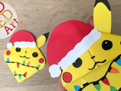 Christmas Pikachu Bookmark DIY - Easy Pokemon DIY - Pikachu DIY Gift (Paper Crafts)