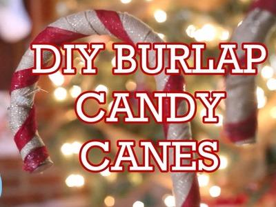 DIY BURLAP CANDY CANE | Vlogmas Day 12