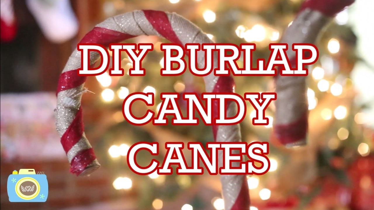 DIY BURLAP CANDY CANE | Vlogmas Day 12