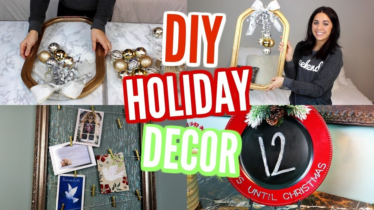 DIY CHRISTMAS DECOR! PINTEREST INSPIRED IDEAS