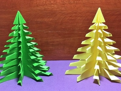 DIY Christmas Tree Paper Making.Xmas tree paper decorated step by step