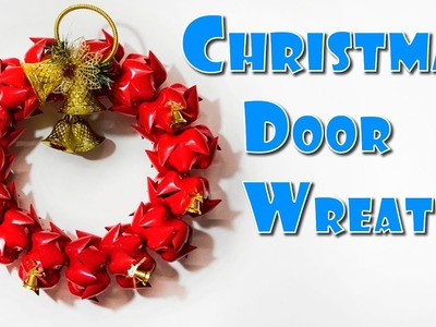 DIY Crafts - Amazing Christmas Door Wreath | Made From Plastic Bottles