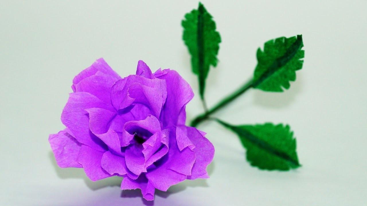 Diy Crafts Flower Making How To Make Paper Rose Diy Paper Crafts