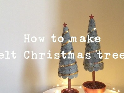 DIY Felt Christmas trees by Rachel Henderson (HD Video)