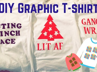 DIY Graphic T-Shirt | holiday designs with freezer paper stencil!