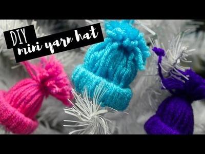 DIY Mini Winter Hat Ornaments   Holiday Decor